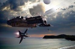 Planetas distantes Imagem de Stock Royalty Free