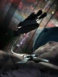Planetas distantes de exploração Fotografia de Stock
