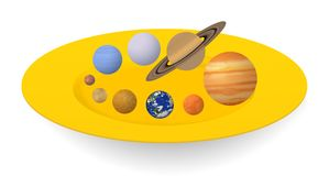 Planetas do sistema solar Foto de Stock Royalty Free