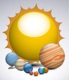 Planetas do sistema solar Imagem de Stock Royalty Free