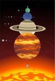 Planetas do sistema solar Foto de Stock