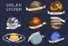 Planetas do sistema solar do vetor Imagem de Stock Royalty Free