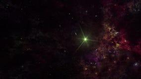Planetas e galáxia, cosmos, cosmologia física ilustração stock