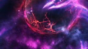 Planetas e galáxia, cosmos, cosmologia física, papel de parede da ficção científica Beleza do espaço profundo ilustração royalty free