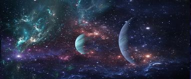 Planetas e galáxias, papel de parede da ficção científica Beleza do espaço profundo ilustração stock