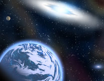 Planetas em um espaço. Imagens de Stock Royalty Free