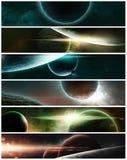 Planetas em um fundo estrelado Imagens de Stock