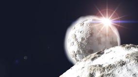 Planetas en la salida del sol Foto de archivo libre de regalías