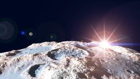 Planetas en la salida del sol Imagen de archivo libre de regalías