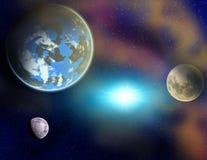 Planetas en un espacio. libre illustration
