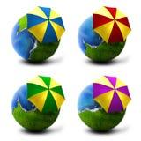 Planetas ensolarados ajustados ilustração do vetor