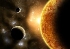 Planetas exteriores Imagem de Stock