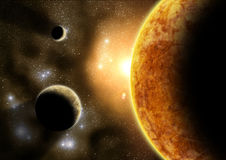 Planetas externos stock de ilustración