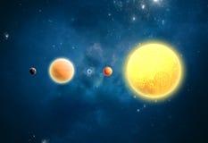 Planetas Extrasolar. Exterior de nosso sistema solar Imagem de Stock