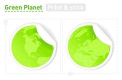 Planetas verdes ilustração royalty free