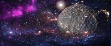 Planetas y galaxias, papel pintado de la ciencia ficción Belleza del espacio profundo imagen de archivo