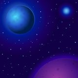 planetavståndsstjärnor Royaltyfri Illustrationer