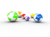 Planete earth globes Stock Images