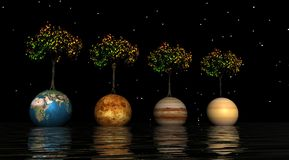 Planeten lizenzfreie abbildung