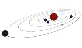 Planeten auf Bahn Stockfotos