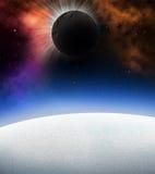 Planeten in de diepe ruimte vector illustratie