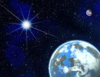 Planeten in een ruimte. Royalty-vrije Stock Afbeeldingen