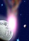 Planeten in een ruimte. Stock Afbeelding