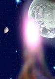 Planeten in een ruimte. Royalty-vrije Stock Foto's