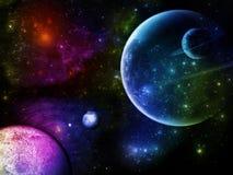 Planeten-Effekt lizenzfreie abbildung