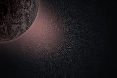 Planeten en melkweg, geheim heelal stock illustratie
