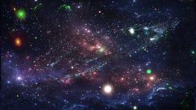 Planeten en melkweg, kosmos, fysieke kosmologie stock illustratie