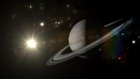 Planeten en melkweg, science fictionbehang stock illustratie