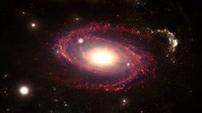 Planeten en melkweg, science fictionbehang Schoonheid van diepe ruimte royalty-vrije stock afbeelding