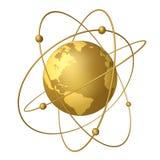 Planeten en satellieten Royalty-vrije Stock Foto's