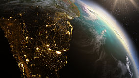 Planeten-Erd-Südamerika-Zone Element unter Verwendung der Satellitenbilder NASAs Lizenzfreie Stockfotos
