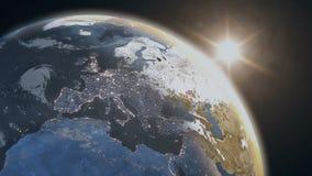 Planeten-Erdansicht vom Raum stock abbildung