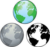 Planeten-Erde. Lizenzfreie Stockfotos