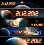 Planeten-Erde-Apocalypsefahne Stockfotografie