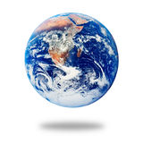 Planeten-Erde getrennt auf Weiß stockbild