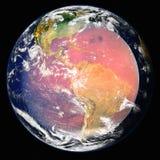 Planeten-Erde im Weltraum Elemente dieses Bildes geliefert von der NASA lizenzfreies stockbild