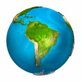 Planeten-Erde - Südamerika vektor abbildung