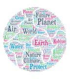 Planeten-Erde - Wortwolke stock abbildung