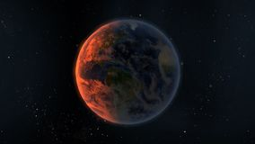 Planeten-Erdesonnenaufgang Lizenzfreies Stockbild