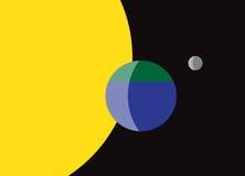 Planeten-Erdflagge Stockfoto