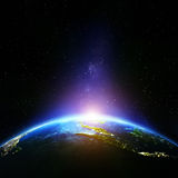 Planeten-Erdnacht Stockfotografie