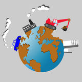 Planeten-Erdvektorillustration Lizenzfreie Stockfotos