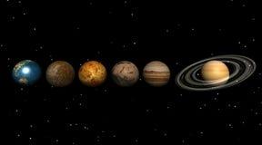 Planeten in het heelal stock illustratie