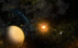 Planeten im Raum lizenzfreies stockbild