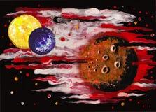 Planeten im Weltraum Stockfotos