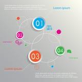 Planeten infographic vier opties Stock Afbeelding